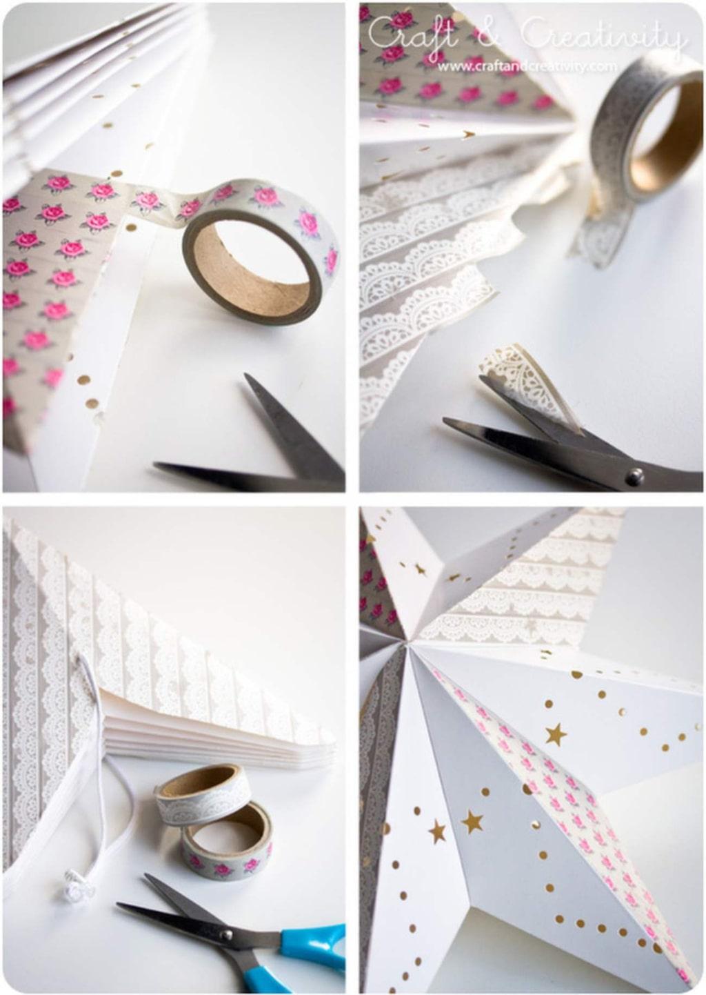 Vill du göra det enkelt för dig kan du använda mönstrad papperstejp.