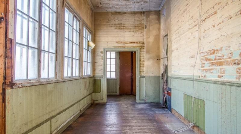 Den gamla korridoren.