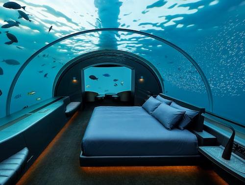 På The Muraka sover du fem meter under vattenytan.