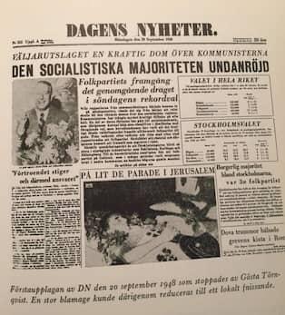 Dagens nyheter i dag for 50 ar sedan
