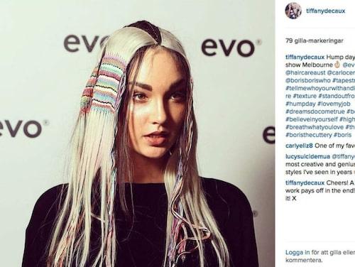 En matta som passar perfekt i håret - och fixar fin hippie-inspirerad look!