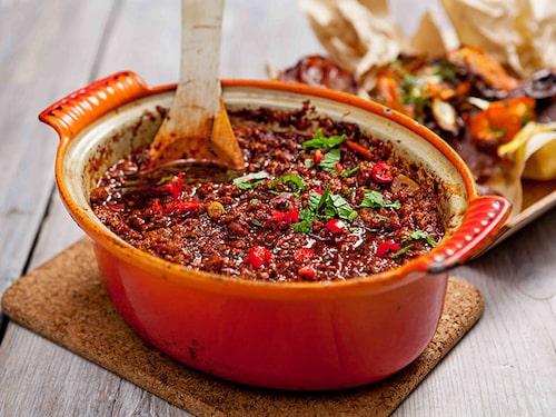 Texas chili med quornfärs.