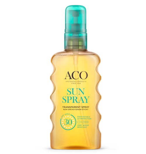 Transparent sun spray Spf-30 – Aco.