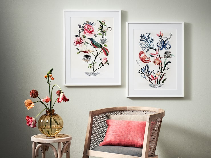 """""""En fin söndag"""" och """"Salta liljor"""" är två ljuvliga motiv inspirerade av naturens färg och form."""