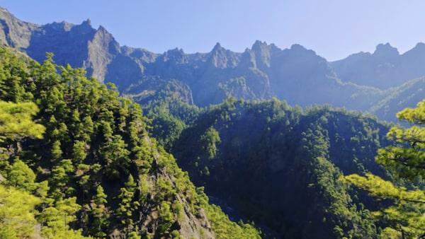 Vandra i nationalparken Caldera de Taburiente på La Palma.