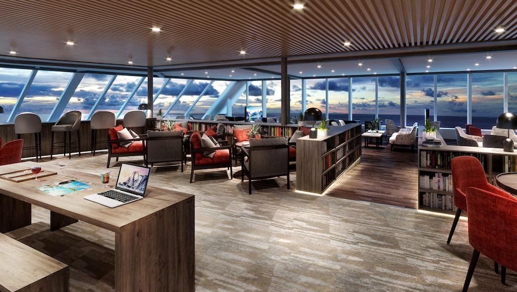Explorer Bar – en av de nya avdelningarna på MS Maud.