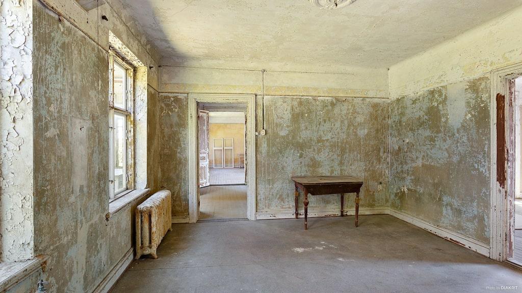Detta var matsalen en gång i tiden. Salen syns i bakgrunden.