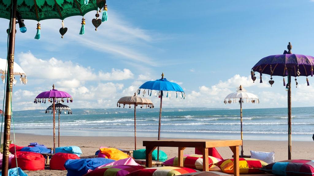 Kuta Beach, det var här turismen började på Bali.
