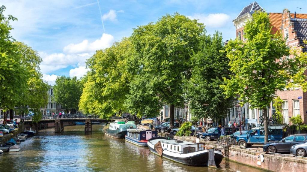 Ta en kanaltur i Amsterdam.