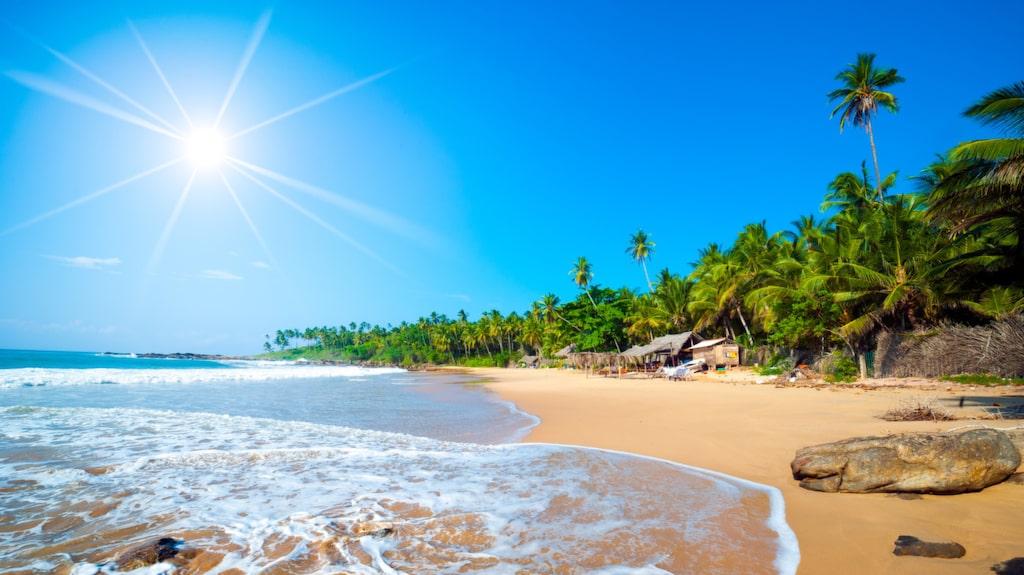 <p>En av Sri Lankas många öde stränder.</p>