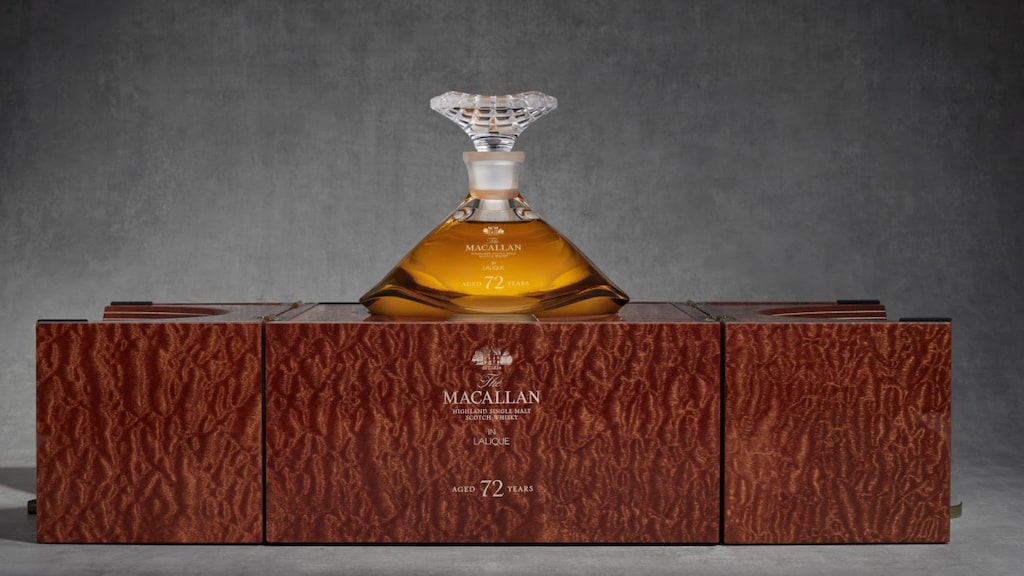 The Macallan 72 Years Old Lalique The Genesis Decanter.