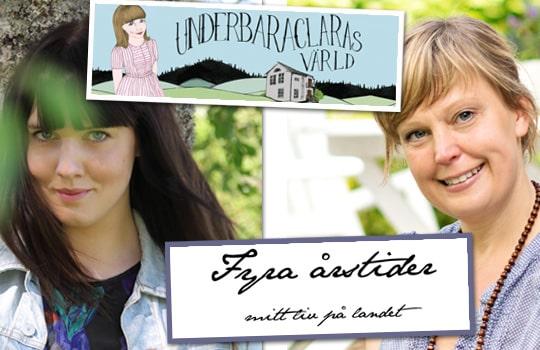 Något som utmärkte de kvinnliga bloggare Annakarin Nyberg följde var att de har hjälpt varandra framåt och varit generösa med råd och tips. Här Underbara Clara och Fyra årstider.