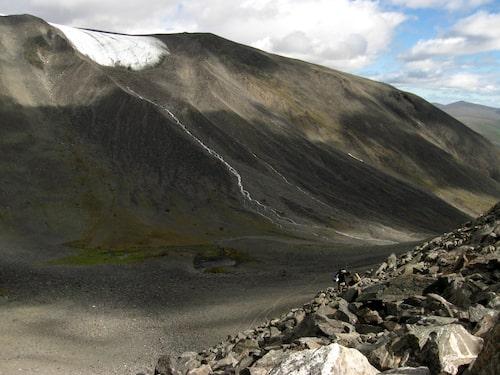 De brantare delarna av Västra leden mellan Tuolpagorni och Vierramvarri.