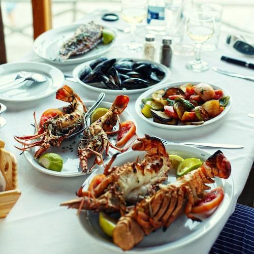 Ljuvligt god mat på restaurang Portes i Chania.