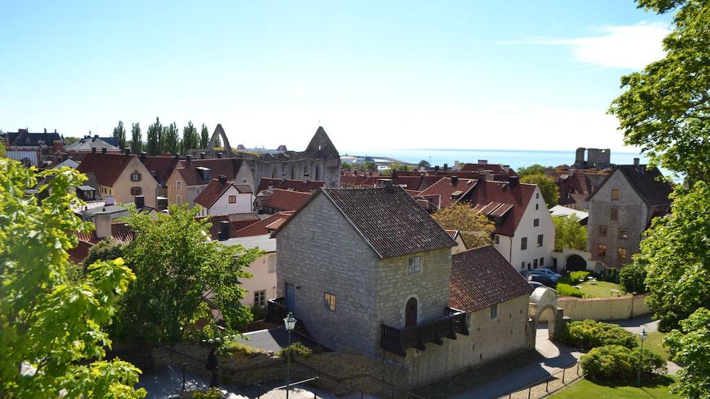 Utsikten över Visby stad är ju inte helt tokig...