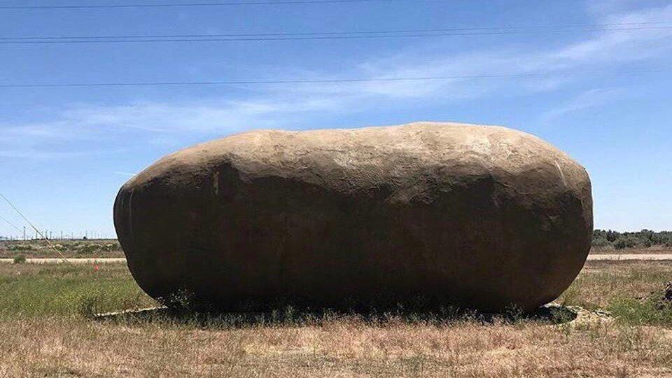 Den här jättelika (konstgjorda) potatisen blev till när Idaho Potato Commission fyllde 75 år. Nu är den omgjord till ett hotellrum.