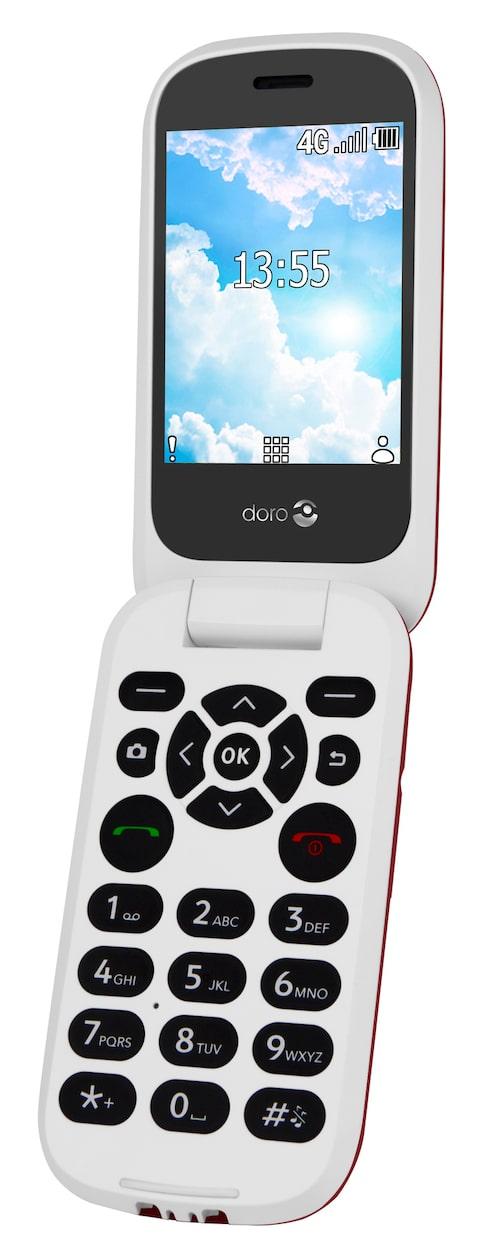 Doro 6521 (knapptelefon)Klassisk vikbar modell med alla viktiga basfunktioner, mycket tydlig display och rejäla knappar. Levereras med perfekt dockningsstation för enklare laddning. Cirkapris: 2 000 kr