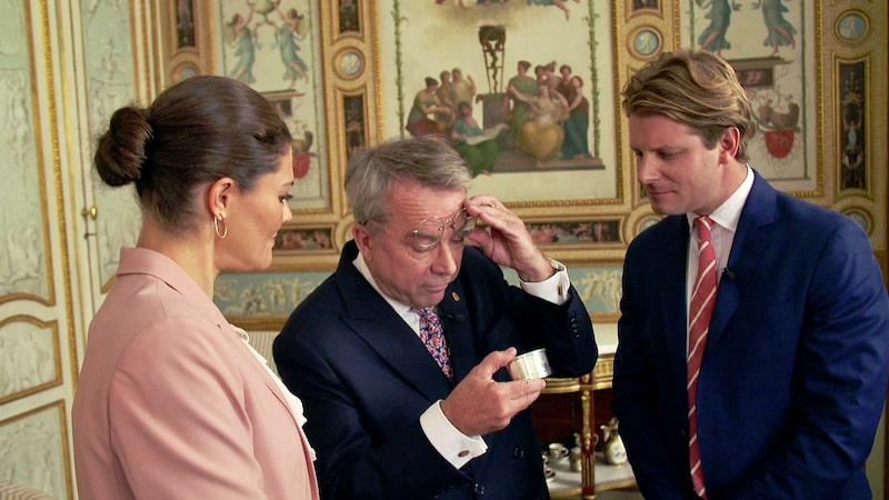 Kronprinsessan Victoria, Knut Knutsson och Rickard Thunér på Haga slott.