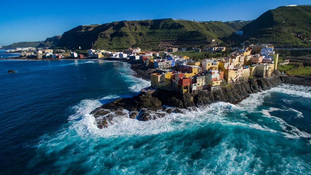 Restaurangen Locanda El Roque ligger längst ut på en klippa i El Roque på Gran Canaria.