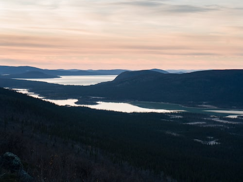 Sarek nationalpark i Lappland.