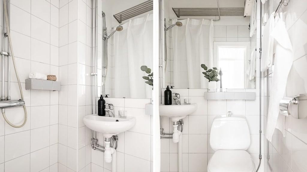 Det lilla badrummet.