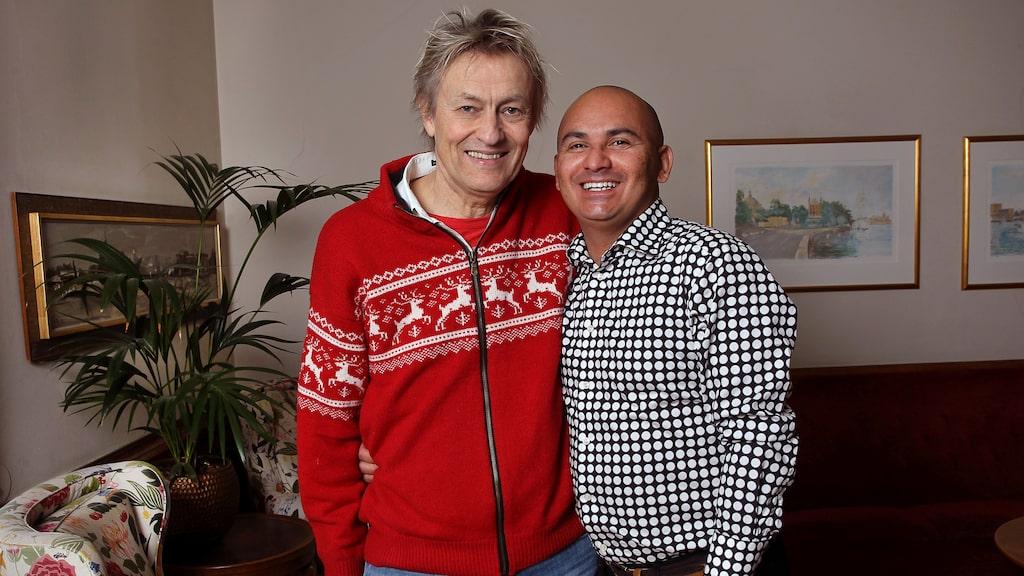 """Lars tillsammans med maken Manoel """"Junior"""" Marques Lerin, 40."""