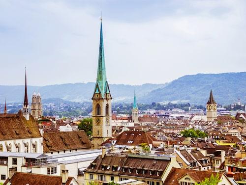 Zurich har en av världens trevligaste flygplatser med nio lounger.