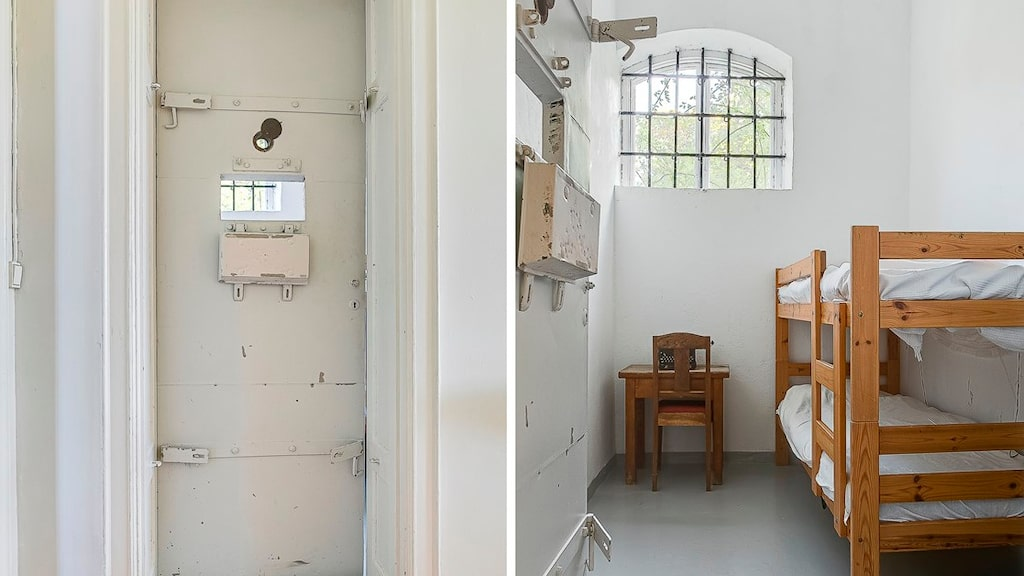 I huset finns två bevarade celler som i dag används som sovrum.