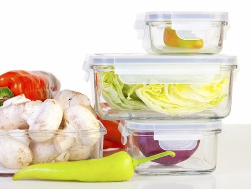 Matlådor i glas finns att köpa på livsmedelsaffärer och på till exempel Ikea.