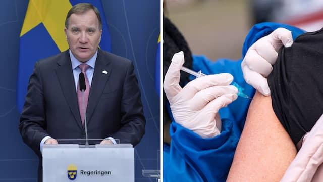Löfvens besked: Vaccinet kommer vara gratis