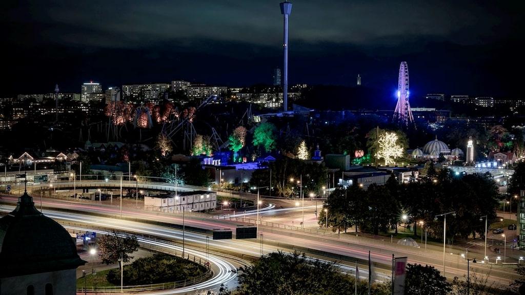 Från huset har man en fantastisk utsikt över Göteborg.